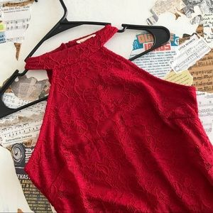 Red Lace Dress • Size M